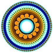 Expressionist Digital Art - Circle Motif 214 by John F Metcalf