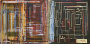 Motherboard Painting Posters - Circuit City Poster by Jack Diamond
