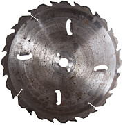 Circular Saw Blade Isolated On White Print by HandmadePictures
