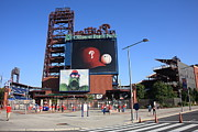 Blue Brick Prints - Citizens Bank Park - Philadelphia Phillies Print by Frank Romeo