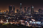 Los Angeles Skyline Metal Prints - City of Angels Metal Print by Natasha Bishop