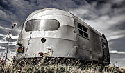 Quirky Posters - Classic Airstream caravan Poster by Ian Hufton
