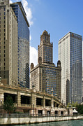 Unique Cityscape Art - Classic Chicago -  The Jewelers Building by Christine Till
