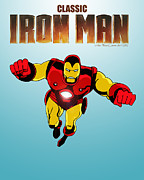 Classic Iron Man Print by Mista Perez Cartoon Art