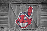 Baseball Glove Prints - Cleveland Indians Print by Joe Hamilton