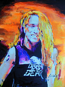 Metallica Painting Framed Prints - Cliff Burton Metallica Framed Print by Lucia Hoogervorst