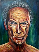 Clint Eastwood Art Paintings - Clint Eastwood by Christian Carrette