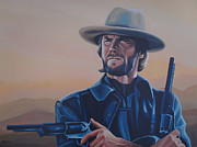 Paul Meijering Art - Clint Eastwood  by Paul Meijering