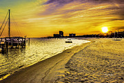 Barry Jones Metal Prints - Coastal Sunset Metal Print by Barry Jones