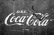 Coke Black Posters - Coca-Cola Sign Poster by Jill Reger