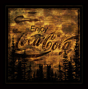 Coca-cola Sign Art - Coca Cola Wooden Sign by John Stephens