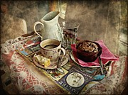 Coffee Time Print by Barbara Orenya