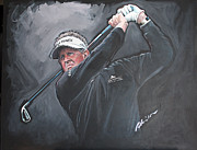 Golfer Prints Art - Colin Montgomery by Mark Robinson