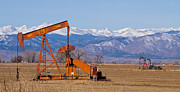 Colorado Nature Landscape Framed Prints - Colorado Oil Well Panorama Framed Print by James Bo Insogna