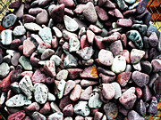 Stones Digital Art Originals - Colored Stones by Laszlo Slezak