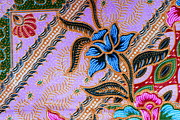 Colorful Batik Cloth Fabric Background  Print by Prakasit Khuansuwan