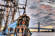 Ben Franklin Bridge Prints - Colors Print by JC Findley