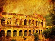 Locations Prints - Colosseum Print by Stefano Senise