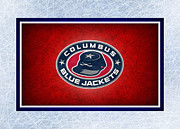 Puck Prints - Columbus Blue Jackets Print by Joe Hamilton