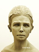 Portrait Sculpture Sculpture Posters - Come Back Poster by Wayne Niemi
