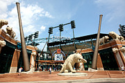 Baseball Stadiums Framed Prints - Comerica Park Detroit Framed Print by Bill Cobb