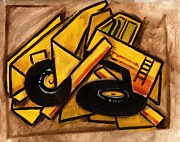Transportation Paintings - Construction Truck by Tommervik