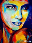 Original Portraits Painting Originals - Contemplative by Helena Wierzbicki