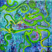Molecule Paintings - Contour by Regina Valluzzi