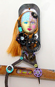 Recycle Art Sculptures - Cool And Level Headed by Keri Joy Colestock