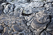 Cooled Pahoehoe Lava Flow Print by Sami Sarkis