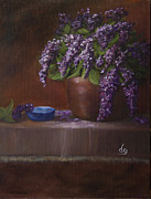 DG Ewing - Copper Vase and Lilacs