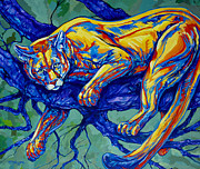 Puma Paintings - Cougar by Derrick Higgins