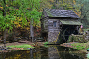 Historic Mill Framed Prints - Country Mill And Pond Framed Print by Paul Ward