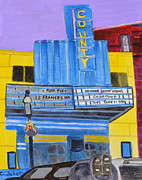 Movie Art Paintings - County Theater by Christina Schott