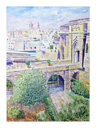 Most Painting Originals - Couvre Port Birgu Malta by Godwin Cassar