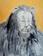 Movie Mixed Media Originals - Cowardly Lion by Dan Twyman