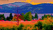 North Vancouver Digital Art Posters - Cowichan Bay from Domans Road Poster by David Skrypnyk
