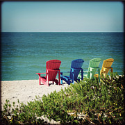 Florida Flowers Prints - Crayon Beach I Print by Chris Andruskiewicz