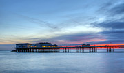 Amusements Metal Prints - Cromer Pier At Sunrise On English Coast Metal Print by Fizzy Image