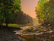 Flyfishing Prints - Cross Fork Creek Print by Patrick ODriscoll