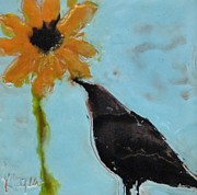 Kat Logan - Crow with Sunflower