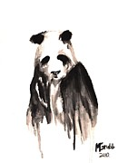 Panda Mixed Media - Crying Panda by Mike Grubb