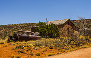 Horror Cars Photos - Cuervo New Mexico Ghost Town 6 by Deborah Smolinske