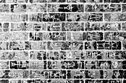 Nebuchadnezzar Prints - Cuneiform Script In Black And White Print by Colin Utz