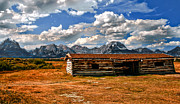 Log Cabin Prints - Cunningham Cabin III  Print by Robert Bales