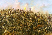 1876 Paintings - Custers Last Stand by Pg Reproductions