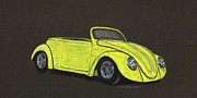 Beetle Car Interior Prints - Custom VW Beetle Print by Robert Sneed