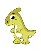 Parasaurolophus Framed Prints - Cute Illustration Of A Parasaurolophus Framed Print by Stocktrek Images