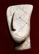 Ancient Greece Sculpture Posters - Cycladic Idol Poster by Thiras art