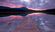 Katahdin Prints - Daicey Pond Sunrise Print by Patrick Downey